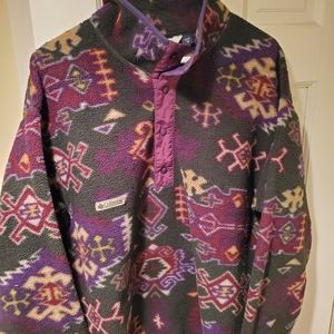 Vintage columbia colorful fleece made in USA